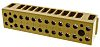 Weidmüller 12 Way Non-Fused Terminal Block, 22 → 12 AWG, 32A, Screw, Screw Terminals, Melamine, 400 V