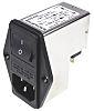 Schurter,6A,250 V ac Male Panel Mount Filtered IEC