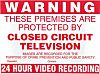 8888 Red PVC CCTV Sign, Warning Closed Circuit