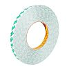 3M 9087 White Double Sided Plastic Tape, 12mm