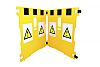 Addgards Yellow Barrier & Stanchion, Extendable Barrier Kit
