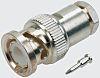 TE Connectivity Straight 75Ω Cable Mount BNC Connector, Plug, Silver, Solder Termination, RG140/U, RG210/U, RG59 B/U