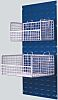 RS PRO White Plastic Coated Stackable Mesh Basket,