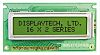 Displaytech 162B-BC-BC Alphanumeric LCD Display, Yellow on Green,