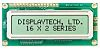 Displaytech 162C-BC-BC Alphanumeric LCD Display, Yellow on Green,