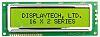 Displaytech 162F-FC-BC-3LP Alphanumeric LCD Display, Yellow on