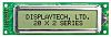Displaytech 202A-FC-BC-3LP Alphanumeric LCD Display, White on