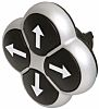 Eaton Black Push Button Head - Momentary, M22