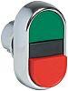 Allen Bradley Oval Green, Red Push Button Head