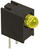 Dialight 551-0707F, Yellow Right Angle PCB LED Indicator,
