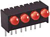 Dialight 551-1107-004F, Red Right Angle PCB LED Indicator,