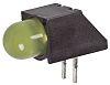 Dialight 550-1207F, Yellow Right Angle PCB LED Indicator,