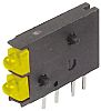 Dialight 571-0133-100F, Yellow Right Angle PCB LED Indicator,