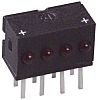 Dialight 555-4001F, Red Right Angle PCB LED Indicator,