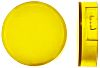 Yellow Round Push Button Lens for use with A16 Series LED/Incandescent Lamp Push Button Switch