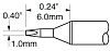 Metcal STTC 1 mm Chisel Soldering Iron Tip