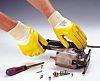BM Polyco Nitron Yellow Nitrile Coated Cotton Work Gloves, Size 8, Medium, 2 Gloves