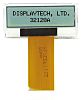 Displaytech 32128A-FC-BW-3 Graphic LCD Display, White on Black,
