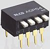 8 Way Through Hole DIP Switch SPST, Piano