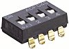 4 Way Through Hole DIP Switch SPST
