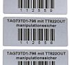 HellermannTyton on Silver Label Printer Tape & Label, 63.5 x 50.8mm Label Size