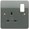 MK Electric 1 Gang Plug Socket, 13A, Type