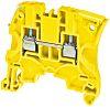 Entrelec ZS4 Reihenklemme Einfach Gelb, 4mm², 1 kV ac / 32A, Schraubanschluss