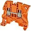 Entrelec ZS4 Reihenklemme Einfach Orange, 4mm², 1 kV ac / 32A, Schraubanschluss