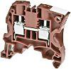 Entrelec ZS4 Reihenklemme Einfach Braun, 4mm², 1 kV ac / 32A, Schraubanschluss