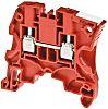 Entrelec ZS4 Reihenklemme Einfach Rot, 4mm², 1 kV ac / 32A, Schraubanschluss