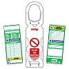 ScaffTag Scaffold Tag Scaffolding Tag, White on Green,