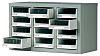 RS PRO 12 Drawer Storage Unit, Steel, 350mm x 586mm x 290mm, Grey