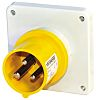 Mennekes IP44 Yellow Panel Mount 2P+E Industrial Power