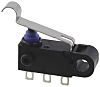 SPDT-NO/NC Simulated Roller Lever Microswitch, 2 A @