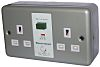 RS PRO 13A, BS Fixing, Passive, 2 Gang RCD Socket, Metal Clad, Surface Mount, 230V ac, Grey Gloss
