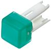 Green Square Push Button Indicator Lens for use