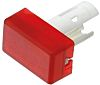 Red Rectangular Push Button Indicator Lens for use