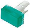 Green Rectangular Push Button Indicator Lens for use