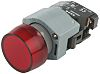 Embellecedor luminoso para botón pulsador, Color Rojo, forma Redonda, para uso con Serie 04