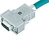 Harting Zinc Angled, Straight D-sub Connector Backshell, 37