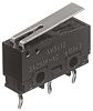 SPDT Short Hinge Lever Microswitch, 100 mA @