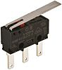 SPDT Long Hinge Lever Microswitch, 3 A @