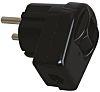 Kopp Black Cable Mount 2P Mains Connector Plug,