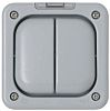 Grey 13 A Surface Mount Light Switch, 2