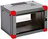CAMDENBOSS Serverkabinet, Vægmontering, 9U højdeenheder, Aluminium, glas, Blå, grå, 517 x 580 x 421mm, easyRack Serien