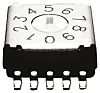 10 Way Surface Mount DIP Switch, Rotary Flush