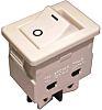 Omron A8WD-2263 Wippschalter Zweipoliger Ein/Aus-Schalter (DPST), Ein-Neutral-Aus, 16 A, Weiß