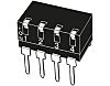 4 Way Through Hole DIP Switch SPST, Lever