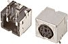TE Connectivity 6 Pole Right Angle Din Socket,