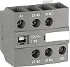 ABB Auxiliary Contact - 1NO/1NC, 2 Contact, Front Mount, 6 A